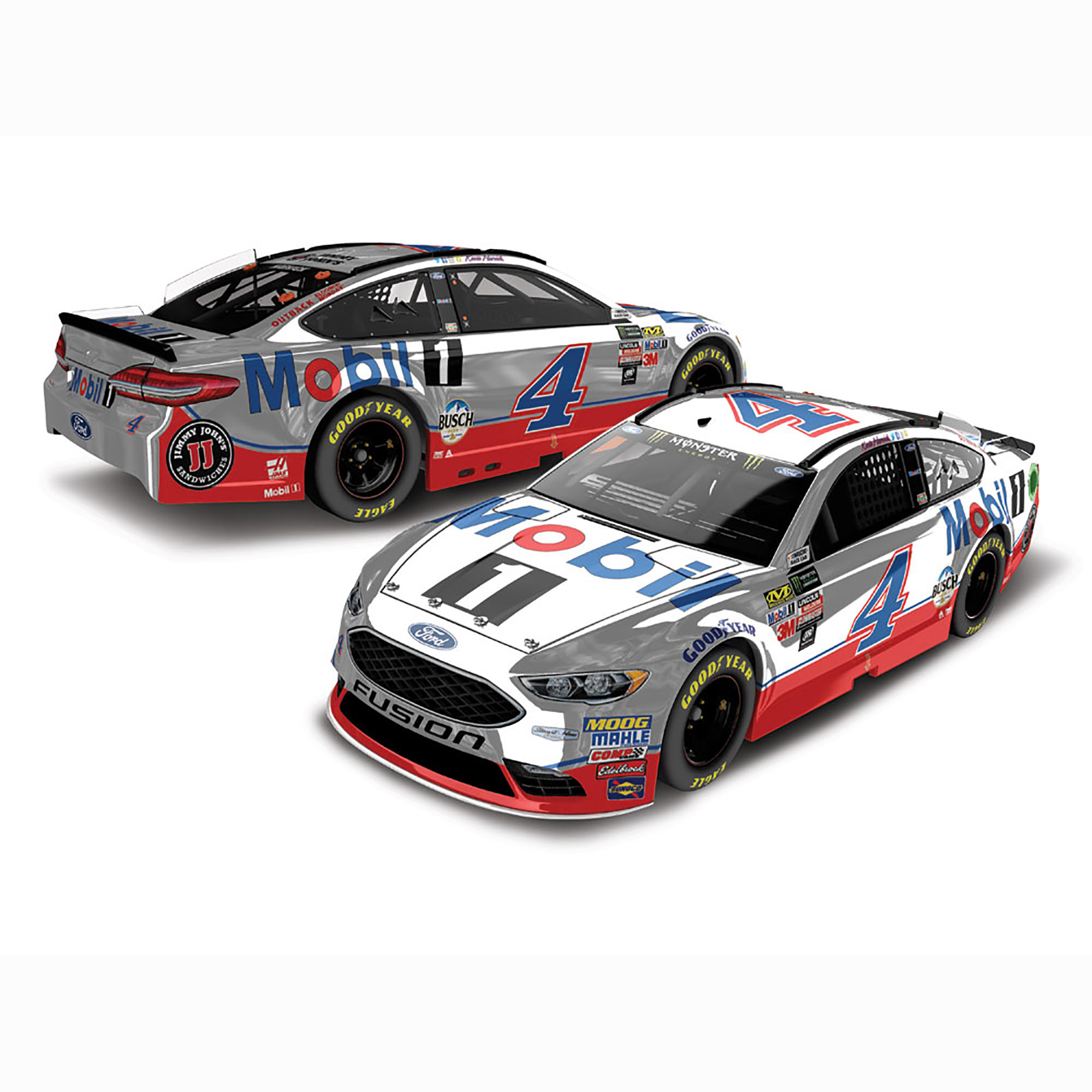 Kevin Harvick Action Racing 2018 #4 Mobil 1 1:24 Monster Energy Nascar Cup Series Color... by Lionel LLC