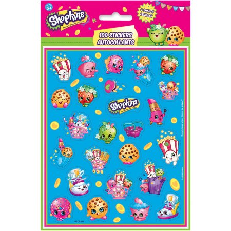 (4 Pack) Shopkins Sticker Sheets, 4ct - Blank Sticker Sheets