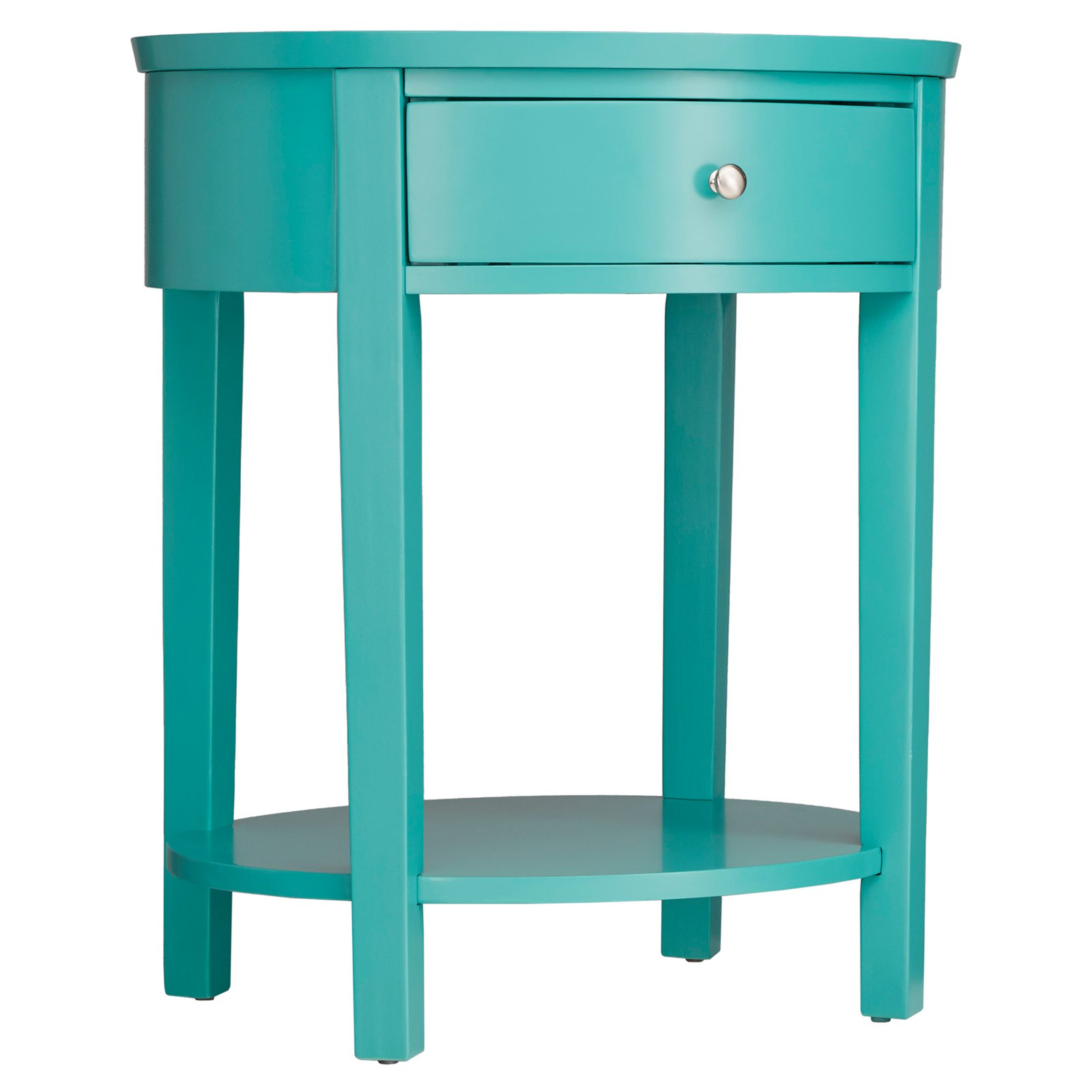 Weston Home Oval Single Drawer Accent Table