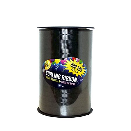 SKD Party By Forum Curling Gift Ribbon, 500 yard Spool (Black) (Curling Gift Ribbon)
