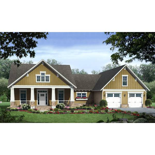 TheHouseDesigners-8041 Rustic Cottage House Plan with Basement Foundation (5 Printed Sets)