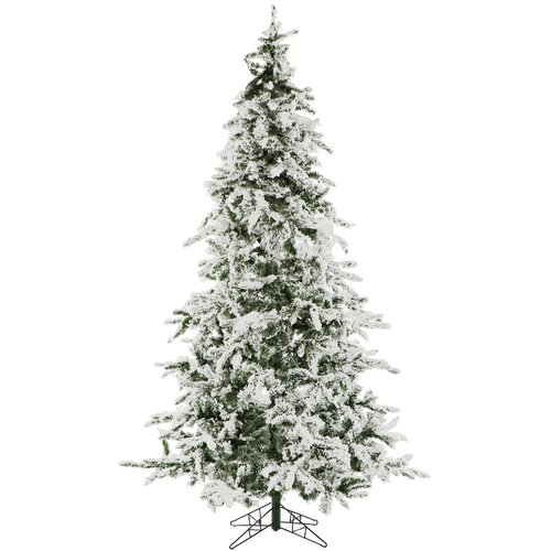 The Holiday Aisle 7.5' Snow Pine Artificial Christmas Tree with 550 Clear Lights