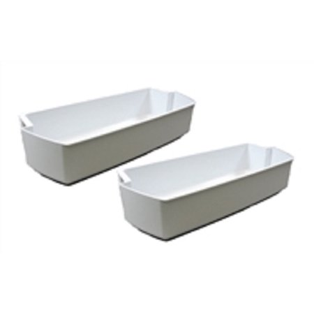 Edgewater Parts 2187172 (2 Pack) Refrigerator Door Bins Compatible With Whirlpool Refrigerator ()