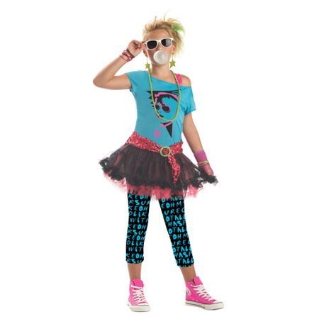 '80s Valley Girl Tween Halloween Costume - Popular Halloween Costumes In The 80s