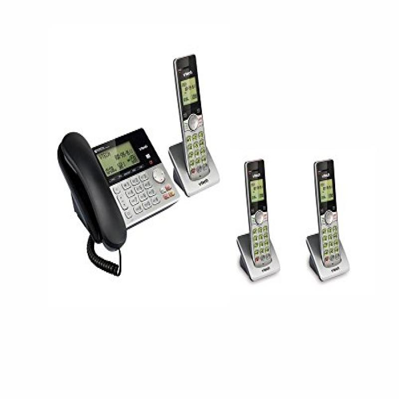 Vtech CS6949 Phone System with 1 Corded / 3 Cordless hand...