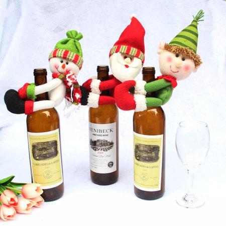 Christmas snowman Santa Snowman Elf Wine Bottle Cover Ornament Xmas Party Decor Gifts