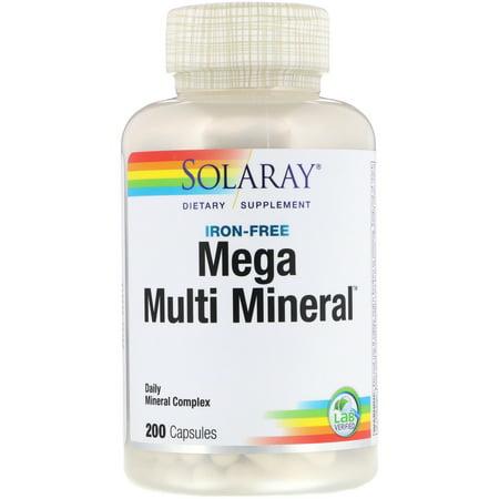 Solaray  Mega Multi Mineral  Iron Free  200 (Best Solaray Multivitamin)