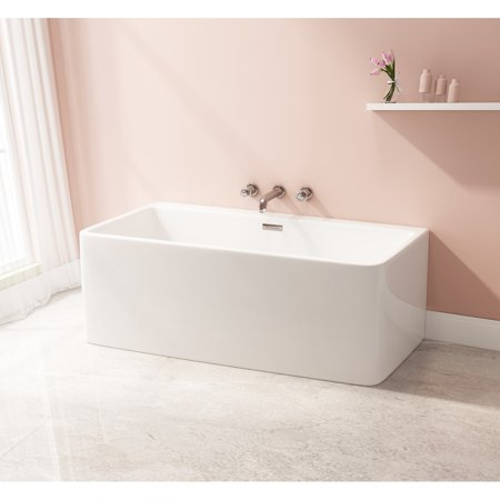 Kingston Brass Modern Acrylic 67-inch Freestanding Bathtub
