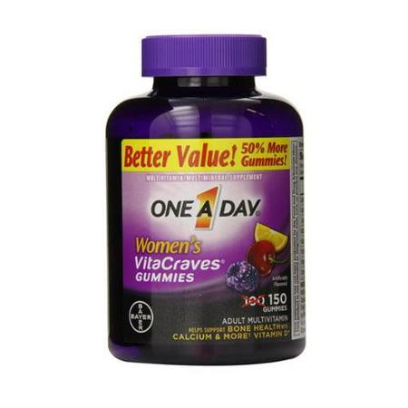 One-A-Day Femmes Vitacraves gélifiés, 150 ch (pack de 2)