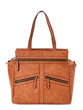 Time and Tru Gigi Tote Hand Stitched Detail Handbag