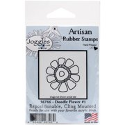 """Joggles Cling Stamp 2.25""""X2.25""""-Doodle Flower #1"""