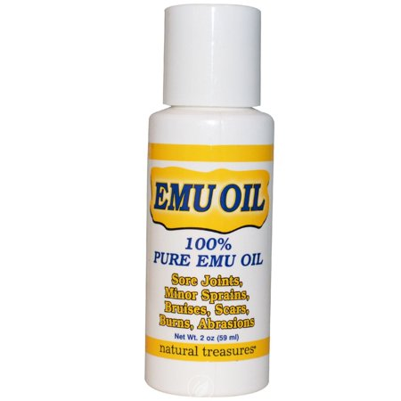 Natural Treasures Emu Oil 100% Pure 2 Ounce, Pack of (Natural Treasures Emu Oil)