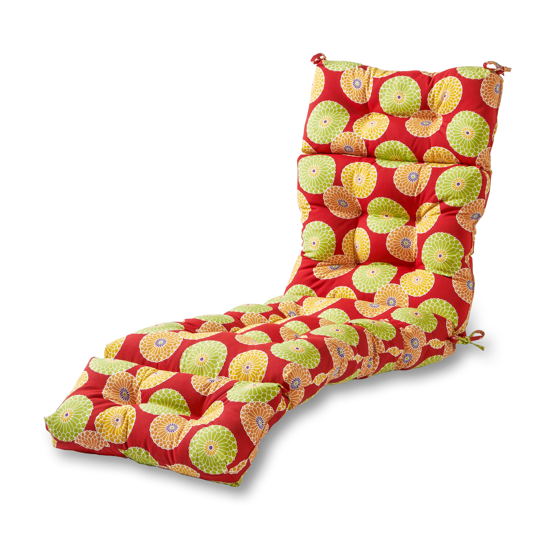Greendale Home Fashions Floral Medallion Outdoor Chaise Lounge Cushion