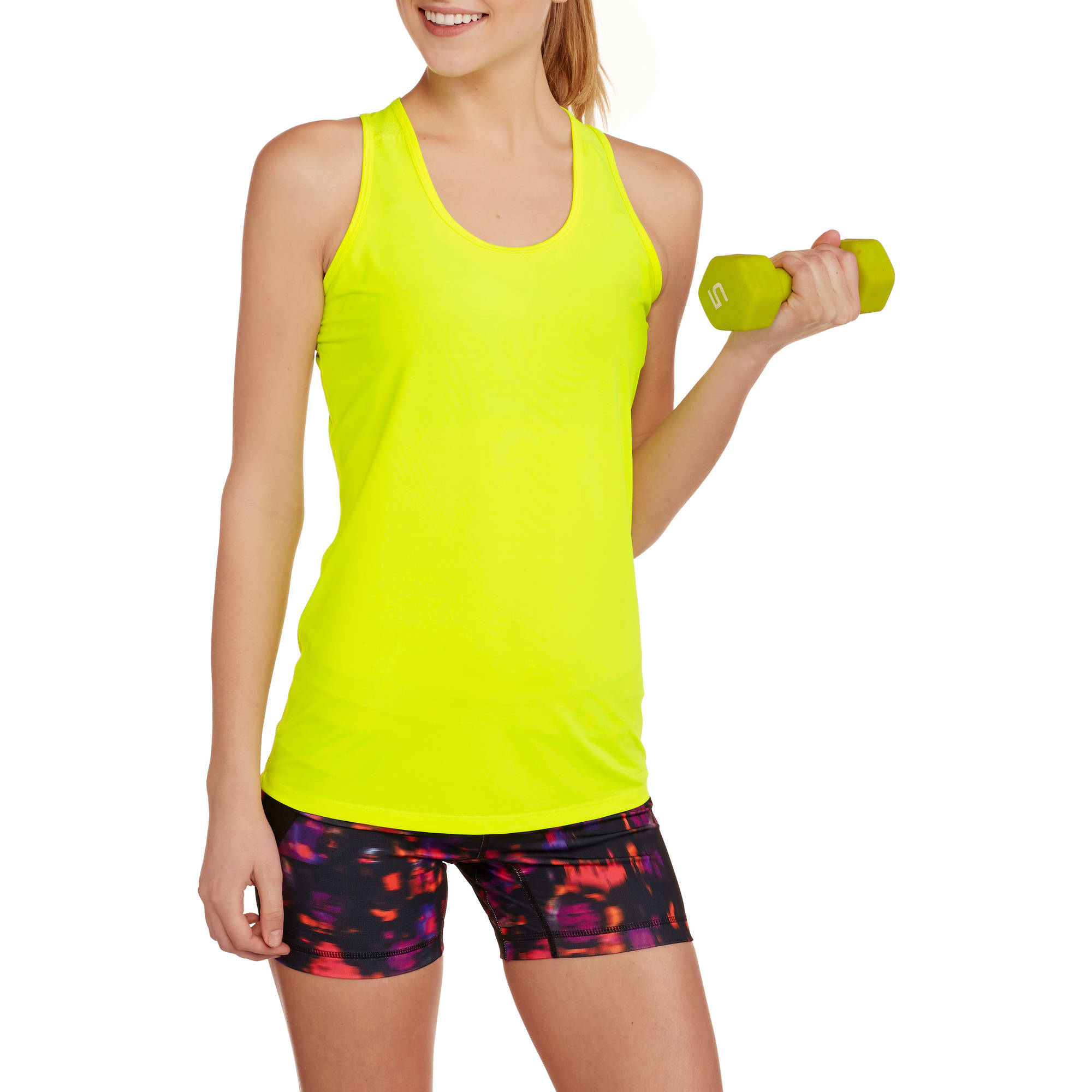 Danskin Now Women's Active Performance Mesh Racerback Tank