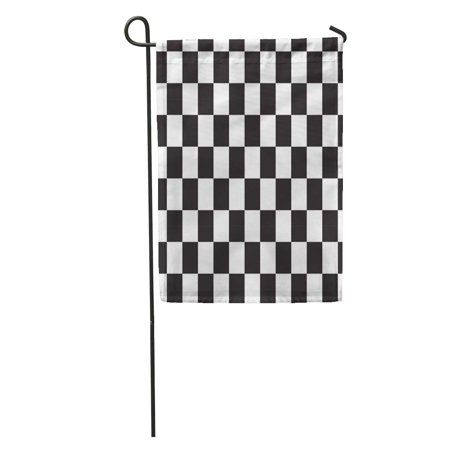 LADDKE Checker Black and White Racing Checkered Pattern Flag Abstract Battle Garden Flag Decorative Flag House Banner 12x18