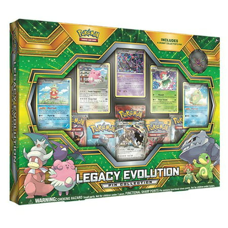 Pokemon Legacy Evolution Pin Collection Box Trading Cards