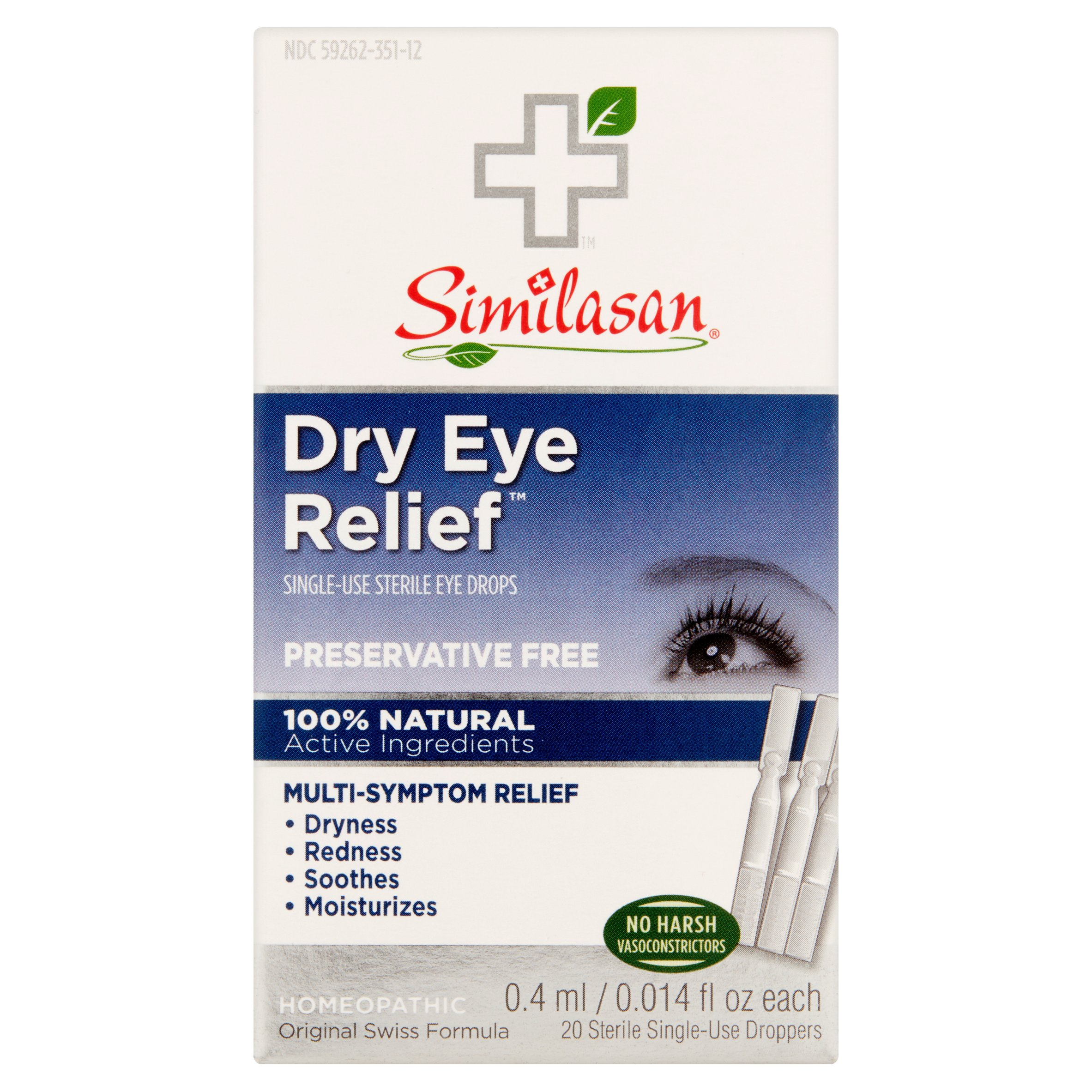 Similasan Dry Eye Relief Single-Use Sterile Eye Drops, 0.014 fl oz