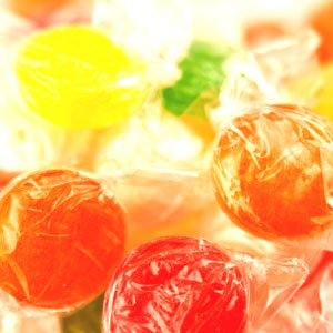 Tropical Fruit Hard Candy Disks: 1 LBS