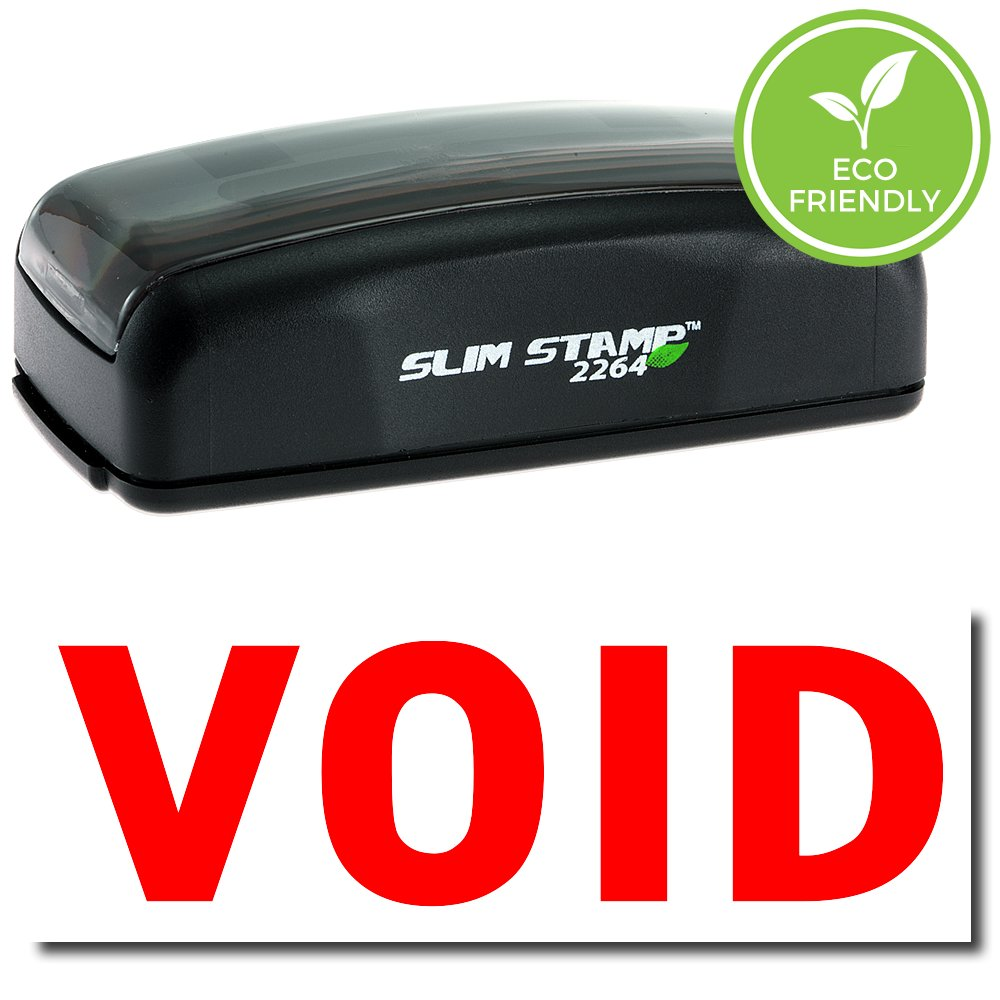Large Pre-Inked Void Stamp with Black Ink