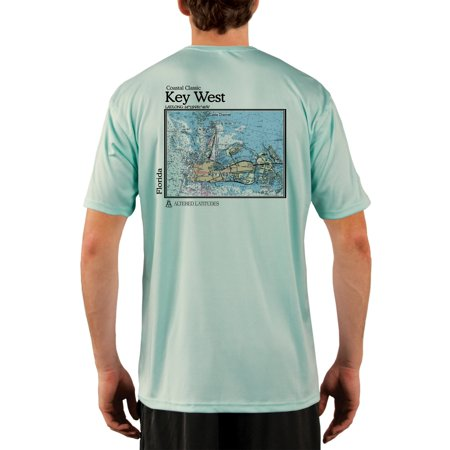 Key West Nautical Chart Men's UPF 50+ UV/Sun Protection Short Sleeve T-Shirt