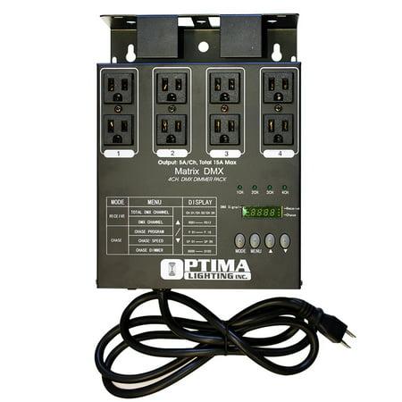 MATRIX DMX 4 Channel Double Output DMX Dimmer (Matrix Output)