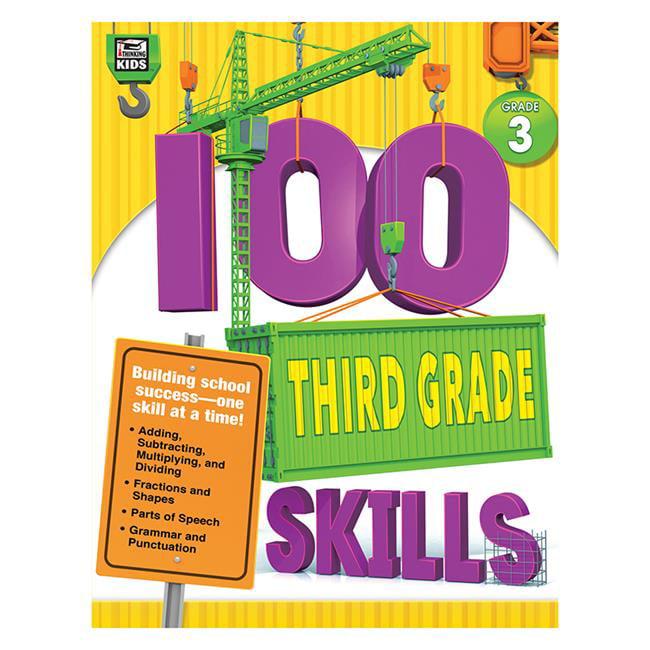 Carson Dellosa CD-704985 100 Third Grade Skills Book