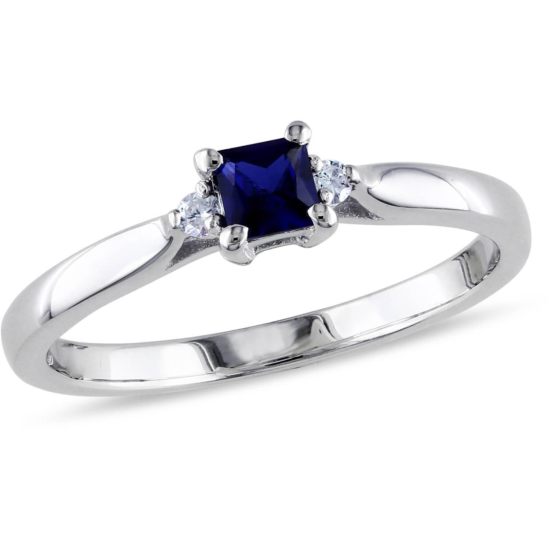 tangelo 1 3 carat t g w princess cut created blue