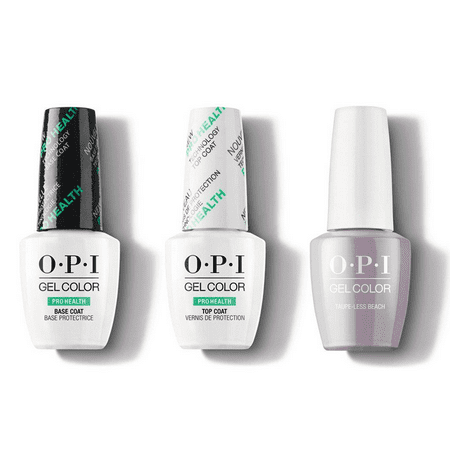 OPI Nail PROHEALTH GelColor .5oz/15mL 3 CT Combo - Base, Top & Taupe-less Beach GC