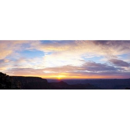 Sunrise on the Colorado Plateau from Cape Royal North Rim Grand Canyon National Park Arizona USA Canvas Art - Panoramic Images (15 x