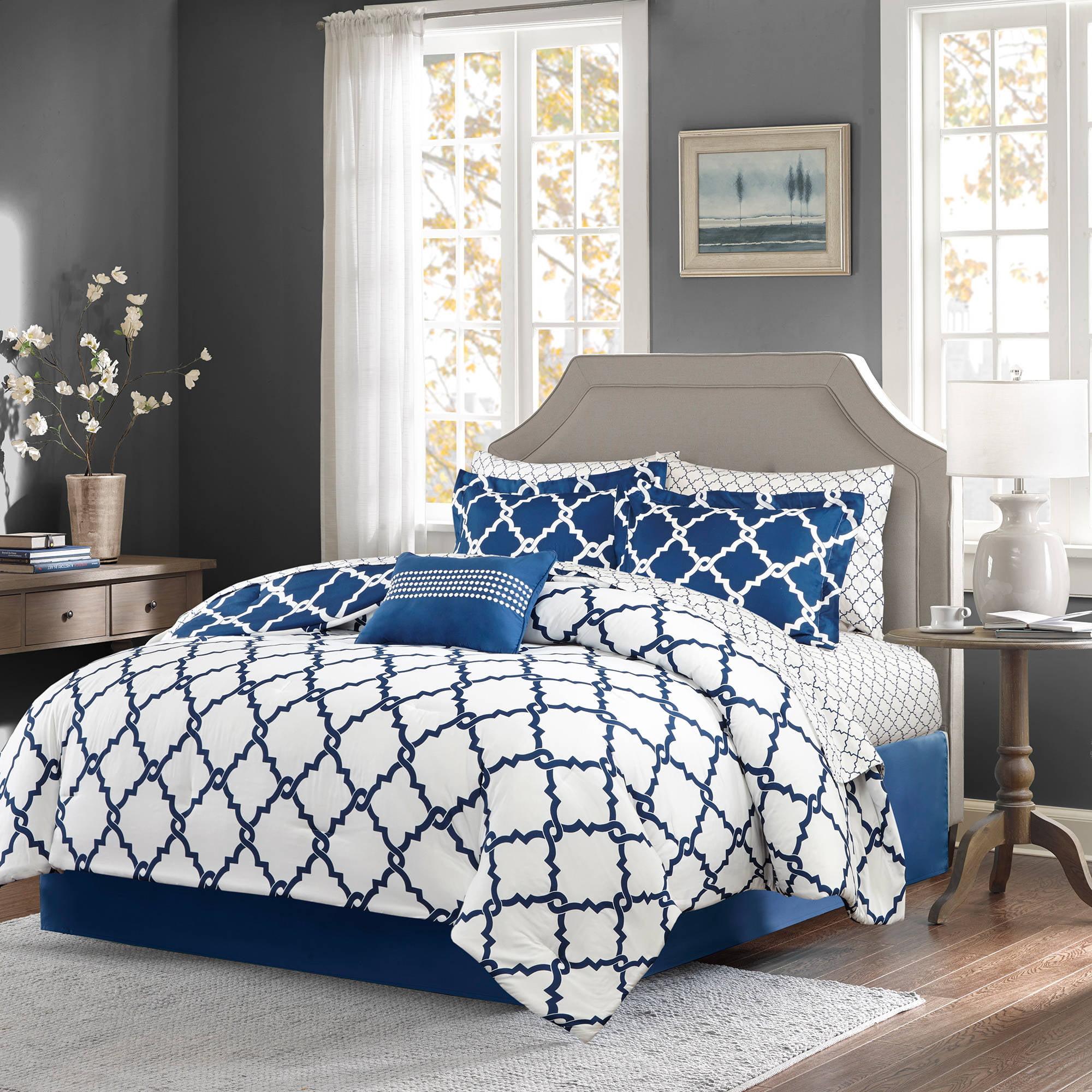 home essence becker reversible complete comforter and cotton sheet set walmartcom