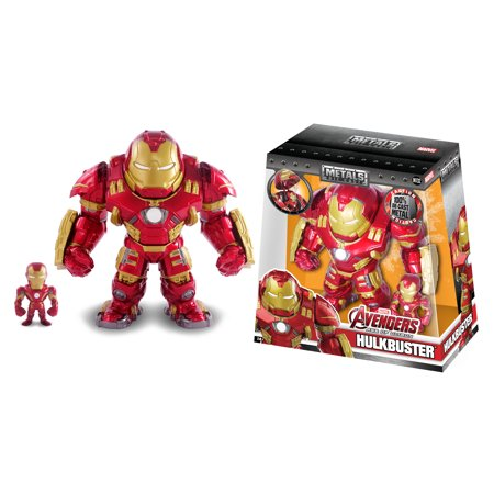 METALFIGS MARVEL 6.5 INCH HULKBUSTER WITH 2.5 INCH IRON MAN SET OF DIE CAST - Hulkbuster Armor
