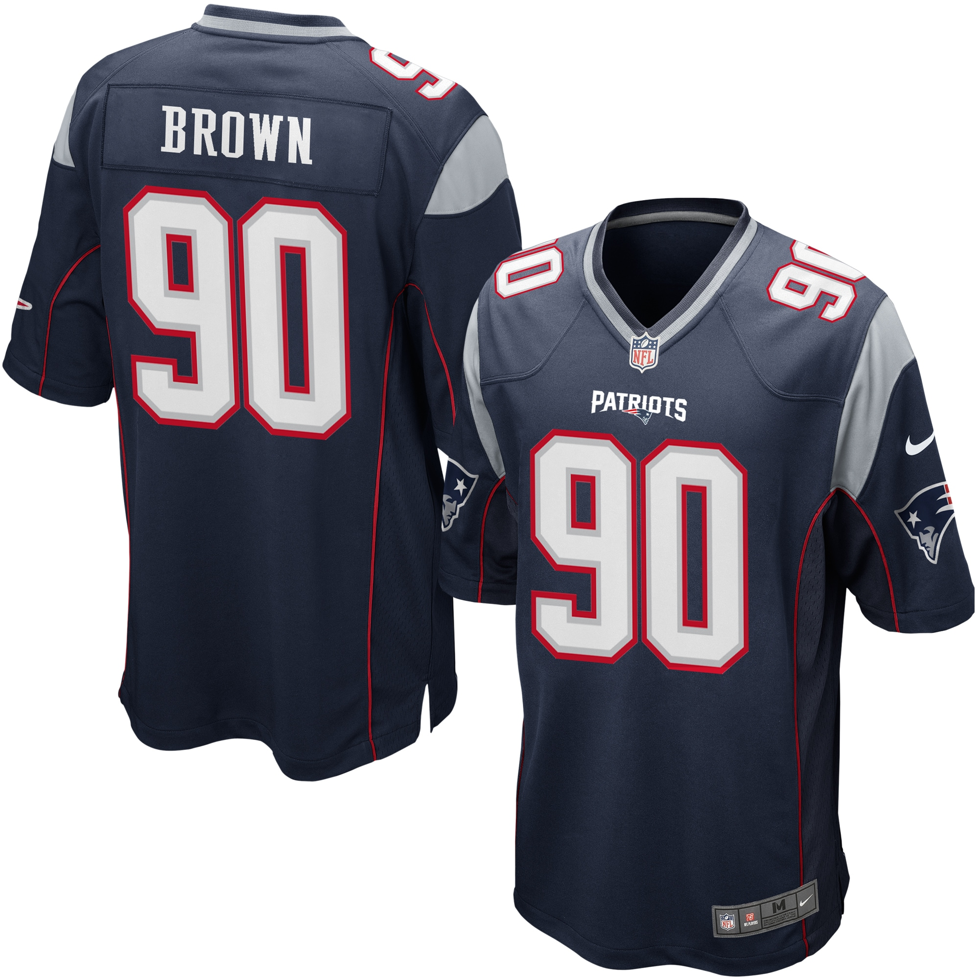 Malcom Brown New England Patriots Nike Game Jersey - Navy ...