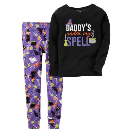 Carter's Girls Halloween Glow In The Dark Pajama Sleep Set - Glow In The Dark Pajamas