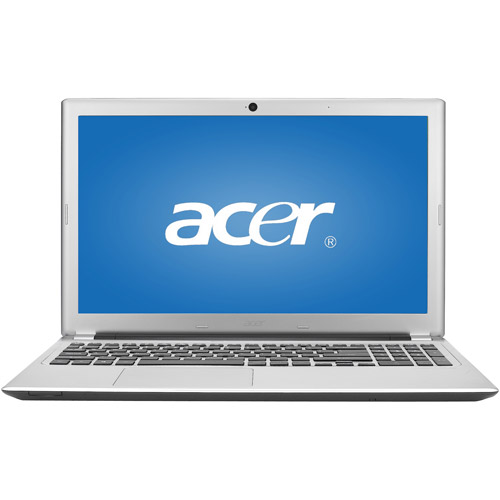 """Acer Silky Silver 15.6"""" Touchscreen V5-571P-6604 Laptop PC with Intel Core i5-3337U Processor and Windows 8 Operating System"""