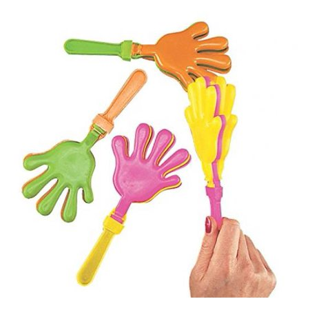 Hand Clappers Noisemakers (Plastic Hand Clappers, pack of)