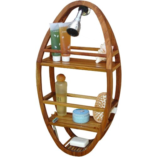 Rebrilliant Teak Shower Caddy