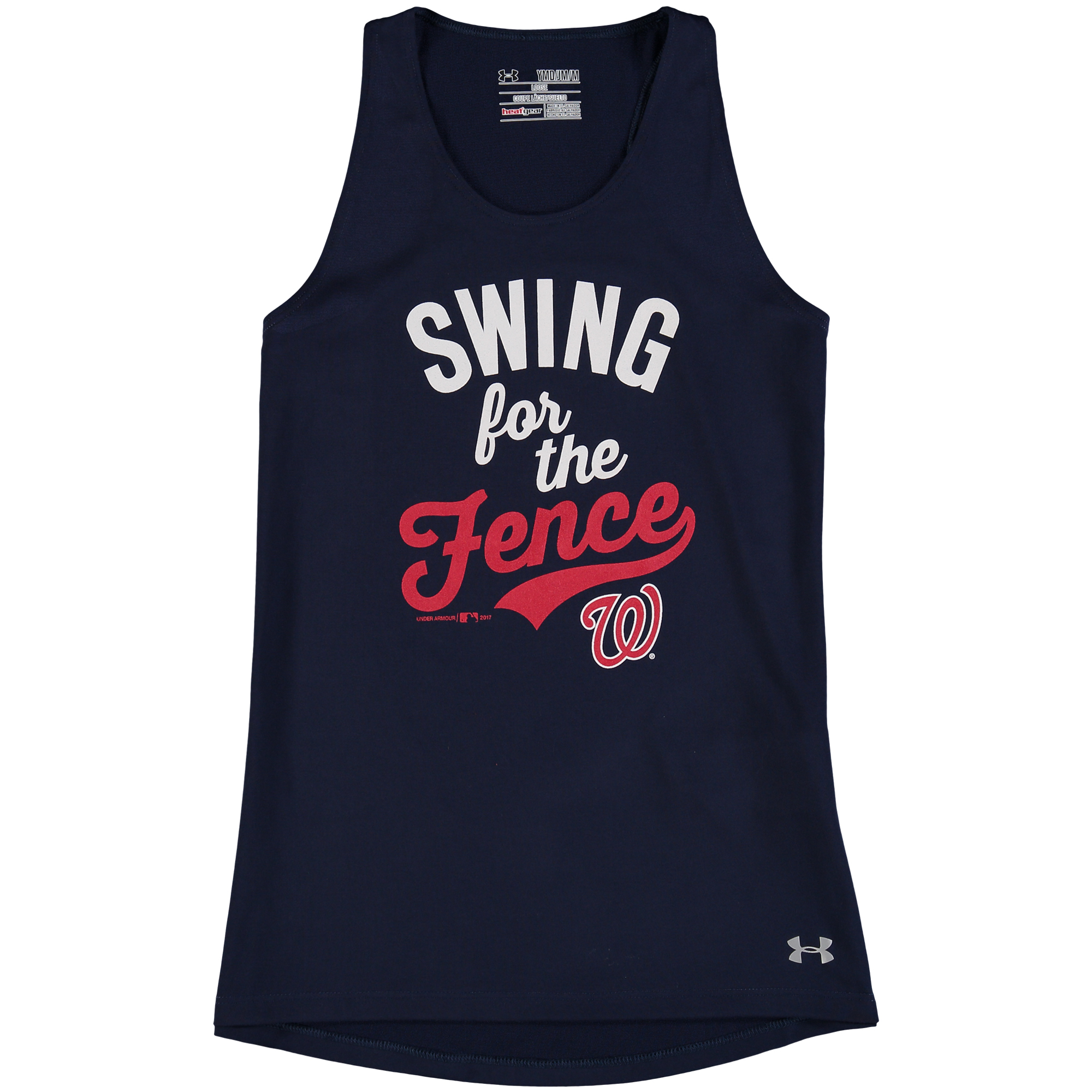 Washington Nationals Under Armour Girls Youth Tech Performance Tank Top - Navy
