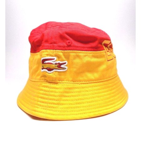 d16e5eba BRAND NEW MEN'S LACOSTE SPORT SPAIN FLAG BUCKET HAT CAP ONE SIZE
