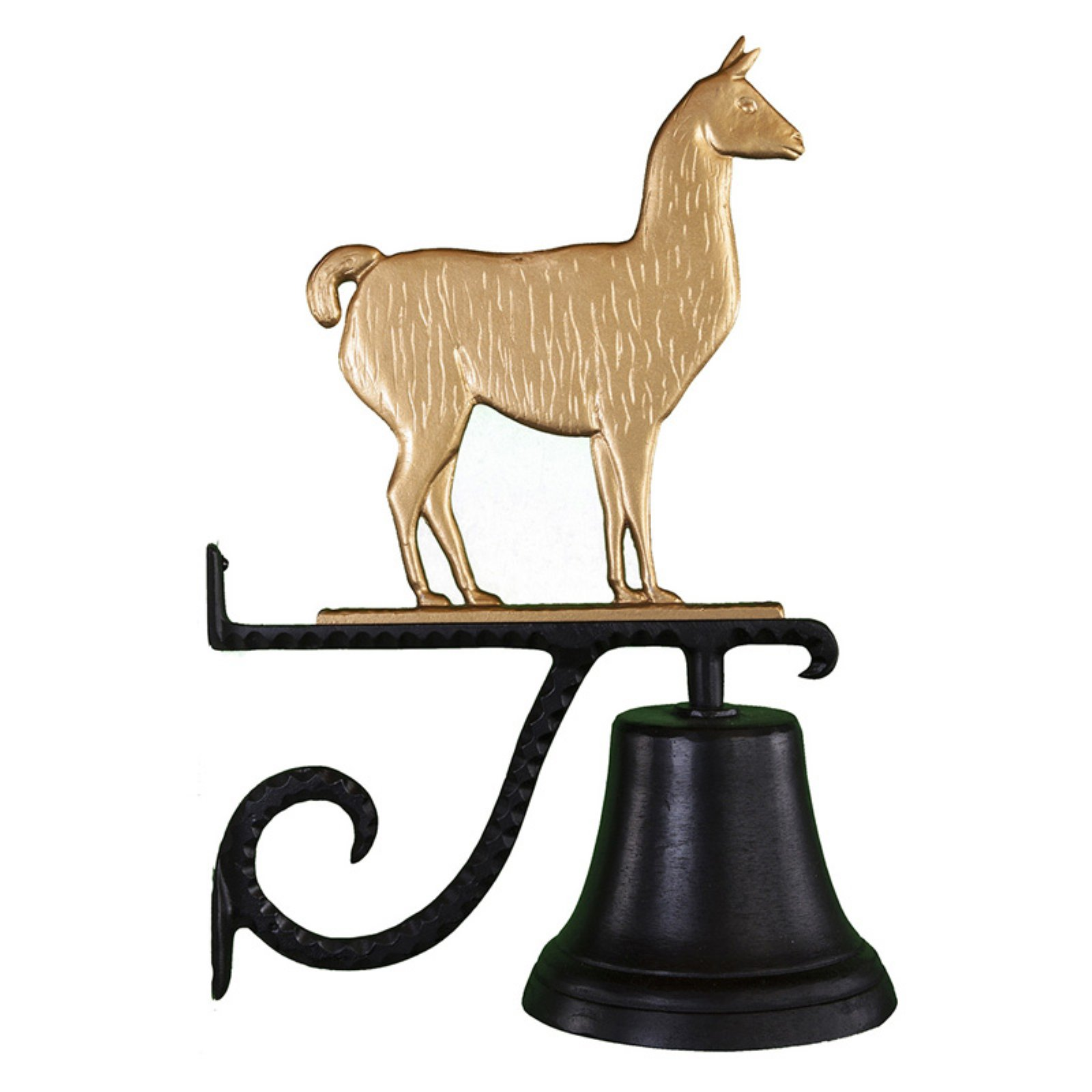 Cast Bell with Gold Llama Ornament