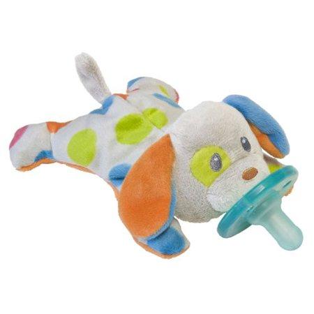 Mary Meyer Wubbanub Confetti Wubbanub Plush Pacifier, Puppy (Discontinued by Manufacturer)