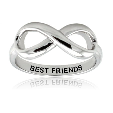 Sterling Silver Best Friends Classic Iconic Infinity Symbol Promise