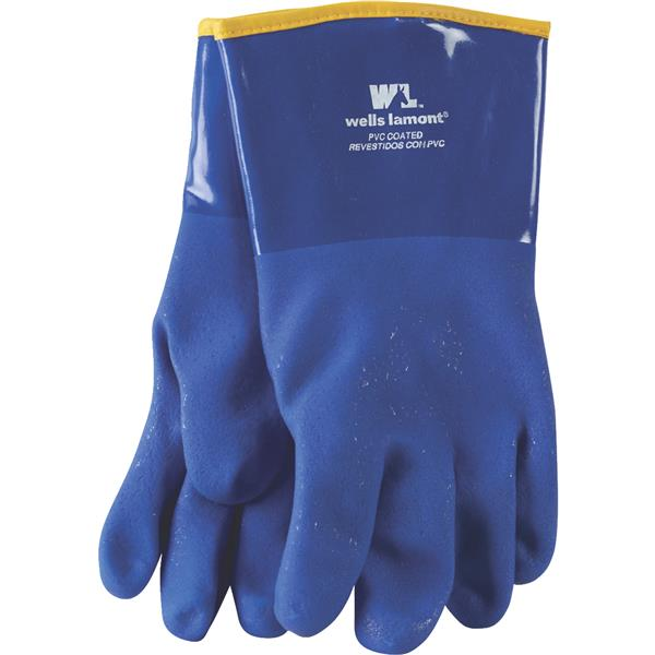 "12"" Blue Pvc Lined Glove 194"