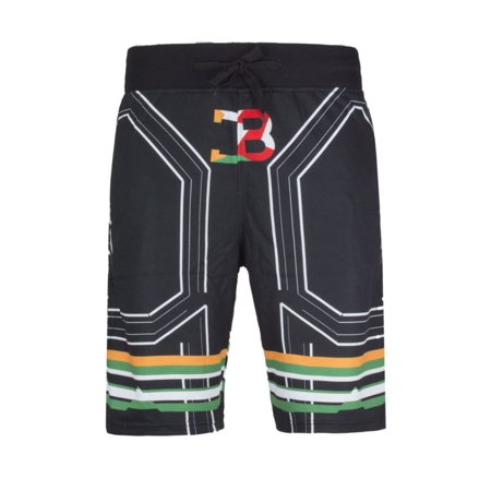 NEW Men Coke Boys Fleece Joggers Shorts Black White Sizes S-XL Pocket CB - Boys White Linen Shorts