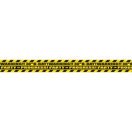 The Party Continuous 30th Birthday Party Scene of the Party Tape Decoration, Black/Yellow , 3