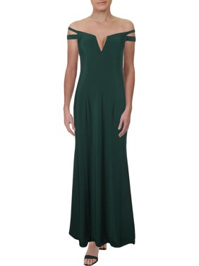 Xscape Womens Off-The-Shoulder Cut-Out Evening Dress