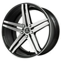 "22"" Inch Verde V39 Parallax 22x9 5x115 +20mm Black/Machined Wheel Rim"