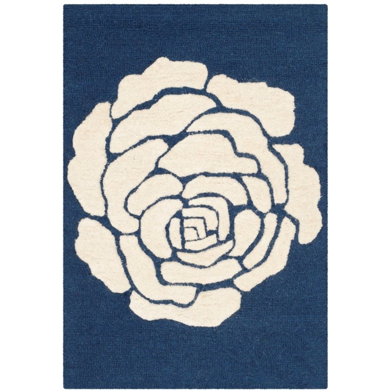 Safavieh Cambridge 8' X 10' Hand Tufted Wool Rug in Navy and Ivory - image 10 de 10