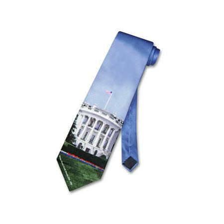 House Tie (WHITE HOUSE 100% SILK NeckTie Home of President Men's Neck)