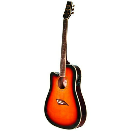 - Kona K2 Series Left-Handed Thin Body Acoustic/electric Guitar