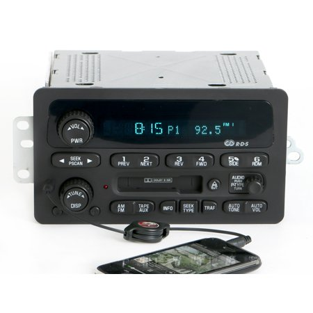 Chevy Impala Malibu Monte Carlo 2000-05 Radio AMFM Cassette w Aux Input 09394139 - Refurbished